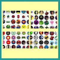 100 Precut Comic Super Heroes Cartoon Bottle Cap Images Variety 1 Inch Discs