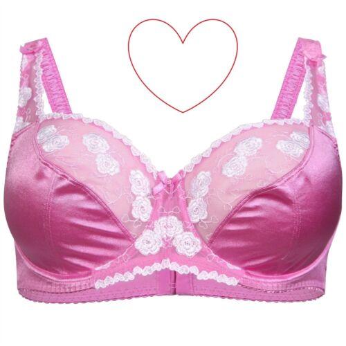 Ladies Pink Underwired Bra Bust Underwear Full Cup