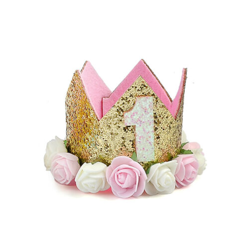 Baby Girls Birthday Headband Crown Flower Tiara Party Hair Bands Accessories