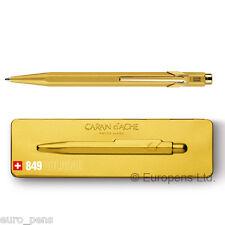 Caran D'ache 849 Ballpoint Ball Pen Gold Bar