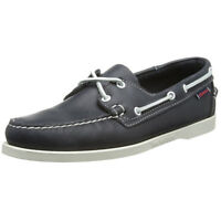 Sebago Mens Docksides Shoes Navy Leather Handsewn Boat Shoe B72722