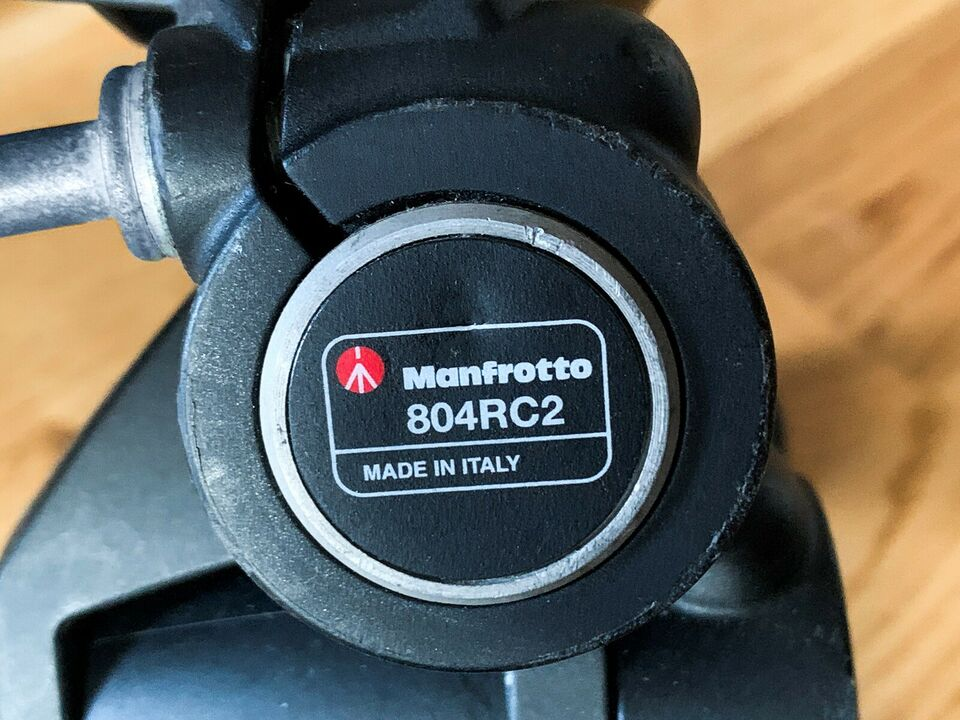 Stativ, Manfrotto 055XPROB + Manfrotto 804RC2