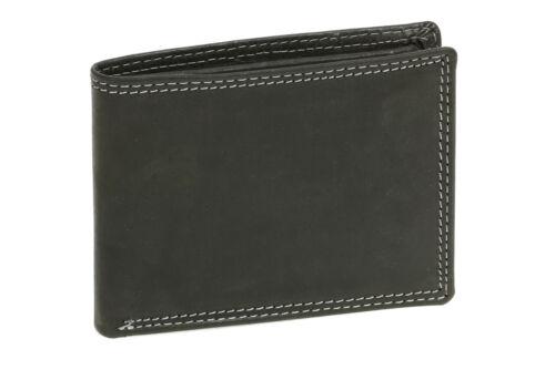 Scheintasche im Querformat LEAS MCL Vintage-Stil Geldbörse Echt-Leder schwarz