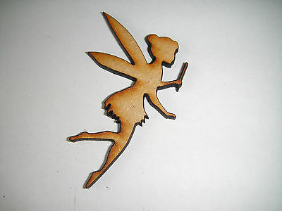 Fairy MDF craft shape wooden embellishment 3 x 5 cm. Pack of 10
