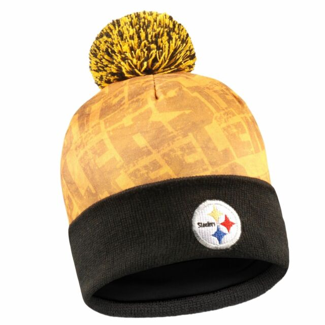 5235925523f Pittsburgh Steelers NFL LED Light up Hat 2017 Winter Pom Beanie Stocking Cap