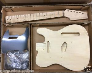 Coban DIY Kit Electric HY190 Basswood body, maple neck, Maple frets Black Part