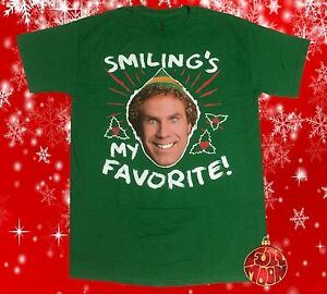 New-Elf-Movie-Smiling-039-s-My-Favorite-Will-Ferrell-Mens-Vintage-T-Shirt