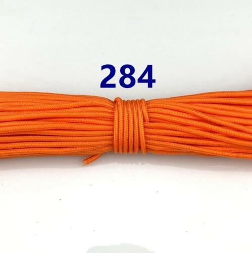 3mm Core 50-100FT Micro Cord Paracord Lanyard Tent Camping Rope Parachute Cord