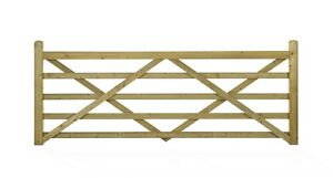Wooden 5 Bar Gate 3ft 12ft Wide Free Delivery 50 Miles