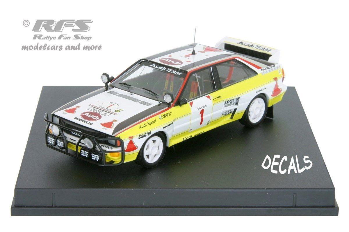 Audi Quattro A2 - Safari Rallye 1984 - Mikkola Mikkola Mikkola   Hertz - 1 43 Trofeu 1613 730d66