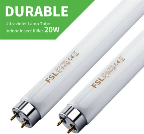 2X 10W Replacement Bulb UV Tube Lamp Light For 20W Mosquito Killer Insect Zapper