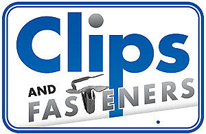 "Clipsandfasteners Inc 25 Black Double End Xmas Tree Retainers Clips 11//32/"" Stem"