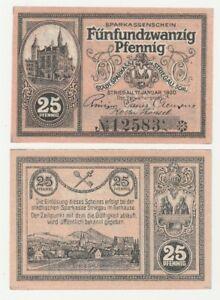 1920 Germany STADE 25 Phennig Notgeld Banknote