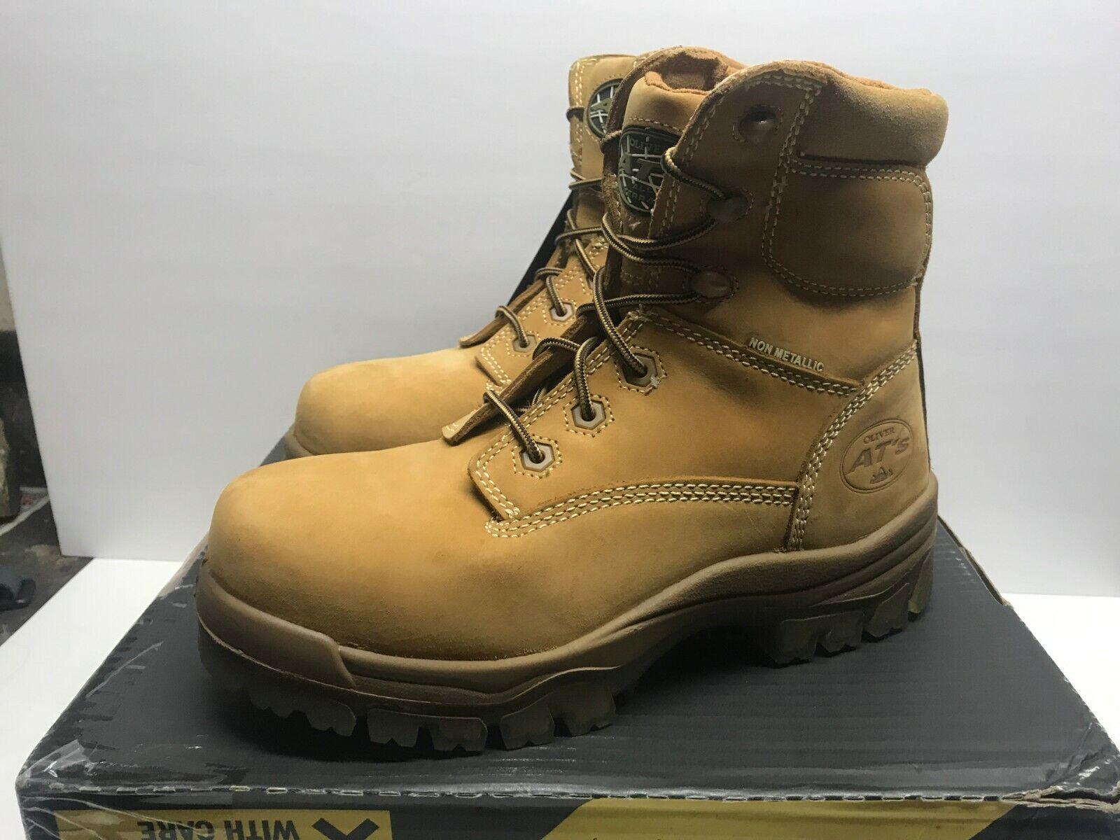 Oliver 45 serie Hombre Cuero 12 6  para hombre Composite Toe botas trigo 45633C