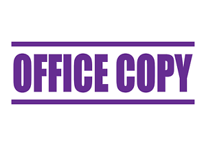 OVERDUE Rubber Stamp 5 colours Self-Inking Office Stamps 4 sizes