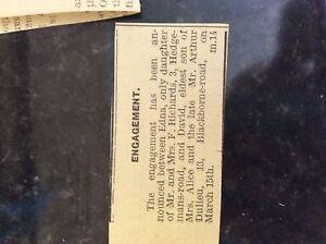 M38a ephemera 1941 dagenham article ww2 engagement edna richards david dulieu - Leicester, United Kingdom - M38a ephemera 1941 dagenham article ww2 engagement edna richards david dulieu - Leicester, United Kingdom