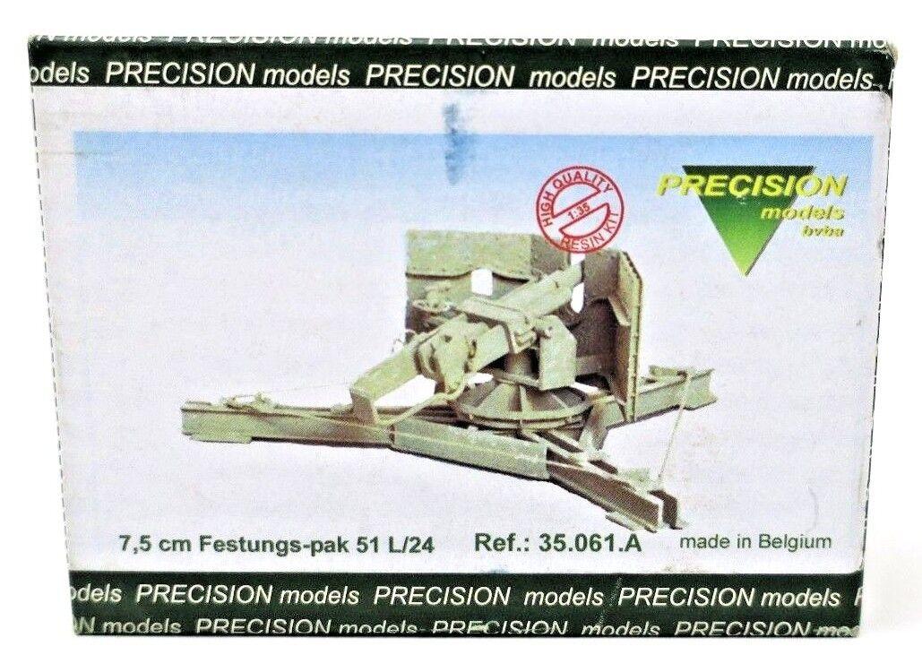 Precision Modells 7,5CM FESTUNGS-PAK 51 L 24 P n  35.061.A