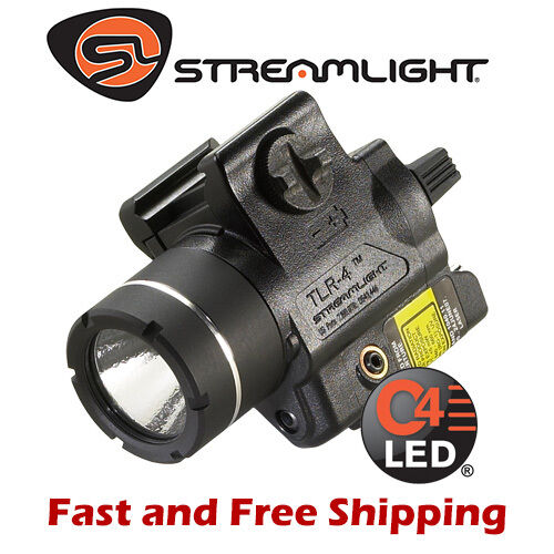 Streamlight TLR-4 Compact Rail Mounted Ractical Weapon Light w  Red Laser 69240