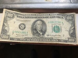 Series 1950 C 100 Dollar Federal Reserve Note Ebay