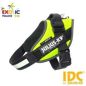Julius-k9 Idc Powerharness Néon Bavoir Jaune Fluorescent Pour Chien Nylon