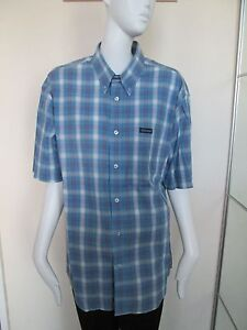 TEDDY-SMITH-BLUE-BLUE-CHECK-SHORT-SLEEVED-SHIRT-SIZE-L-100-COTTON