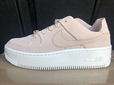 Nike Air Force 1 Sage Low Pink Suede Sneakers 8.5