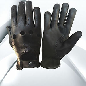 REAL LEATHER MEN/'S DRIVING GLOVES TOP QUALITY SOFT LEATHER