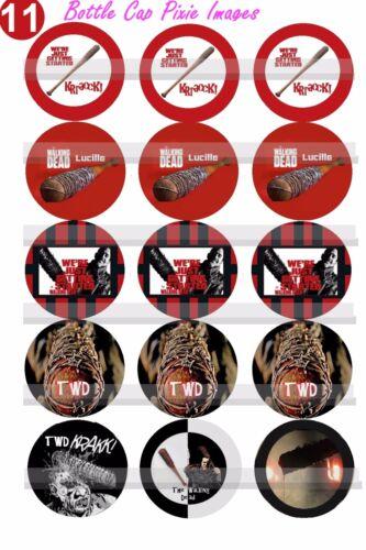 The Walking Dead Lucille Neegan/'s Zombie killng BAT 15 Precut Bottle Cap Images