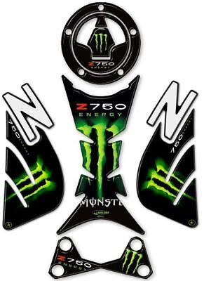 Kit de Pegatinas Resina Gel 3d Z 750 Compatible para Moto Kawasaki Z750 Negro Rojo