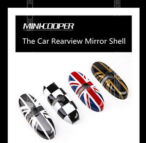 Union Jack Uk Checkered Rear ViewMirror Caps Covers For Mini Cooper//Countryman