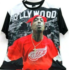 tupac red wings t shirt