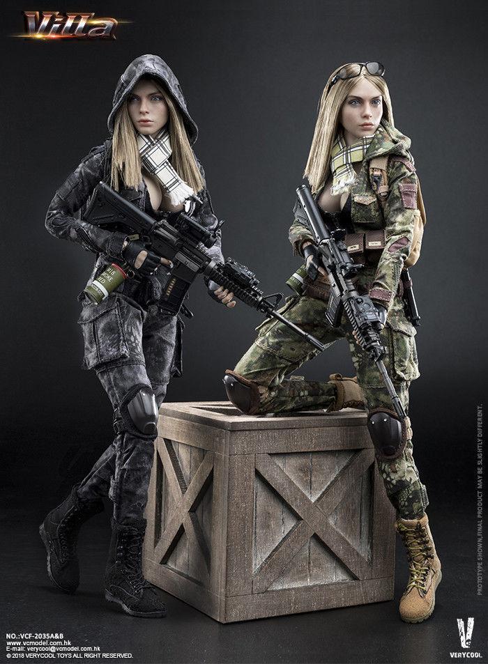 VERYCOOL VCF-2035 1 6 Villa Sister Flower Female Soldier Figure Full Set Model