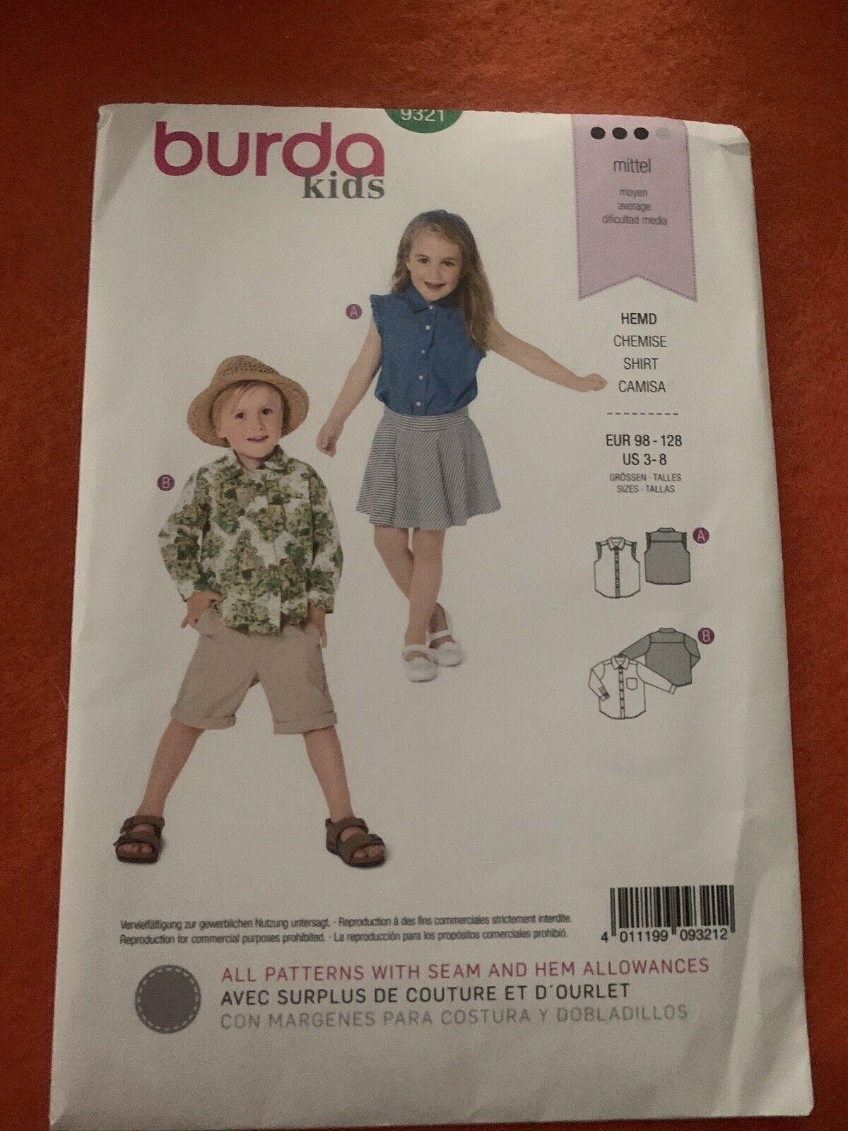 Burda 9381 Sewing Pattern Kids Bathrobe Poncho Unisex For Sale Online Ebay