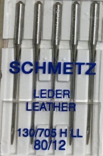 Schmetz interior agujas para máquinas de cuero 130//705hll Pack 5-elija un tamaño