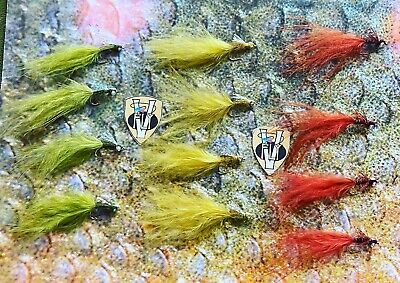18 Size 10 Trout Flies Nomads Flash Damsels and Ally McCoist Fishing Flies