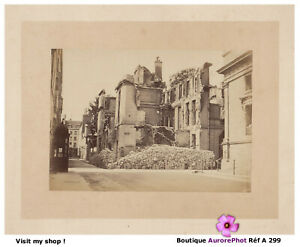 RUINES-DE-PARIS-COMMUNE-INSURRECTION-RUE-DE-LILLE-TIRAGE-ALBUMINE-1871-A299