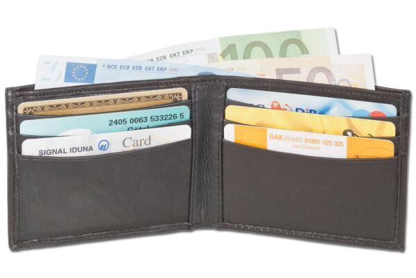 + Portafoglio Portafoglio Mini-portafoglio-pelle Bovina Nero 4400809 Ultima Moda