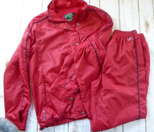 Ralph Lauren Womens Track Gym Suit Red Size PM