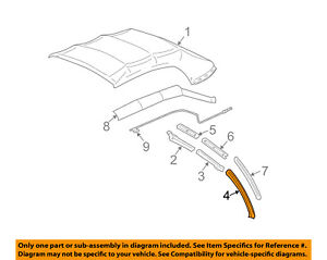 Image Is Loading Ford Oem 06 14 Mustang Convertible Top Seal