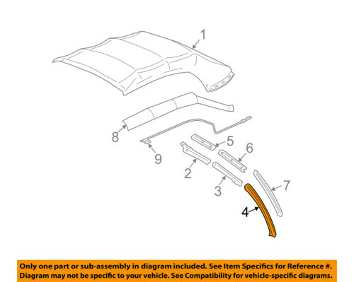 FORD OEM 06-14 Mustang Convertible Top-Seal Left 4R3Z7654001AA