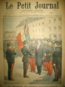 DRAPEAU-ECOLE-POLYTECHNIQUE-CHINE-INCIDENT-RUSSO-ANGLAIS-LE-PETIT-JOURNAL-1901