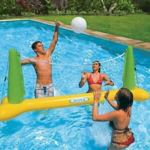 Details about Volleyball Set Intex Pool Inflatalbe Floating Swimming Fun  Net & Ball