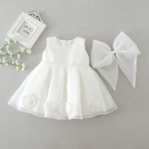 a972a9a04 Newborn Baby Girls Christening Birthday Prom Festival White Party ...