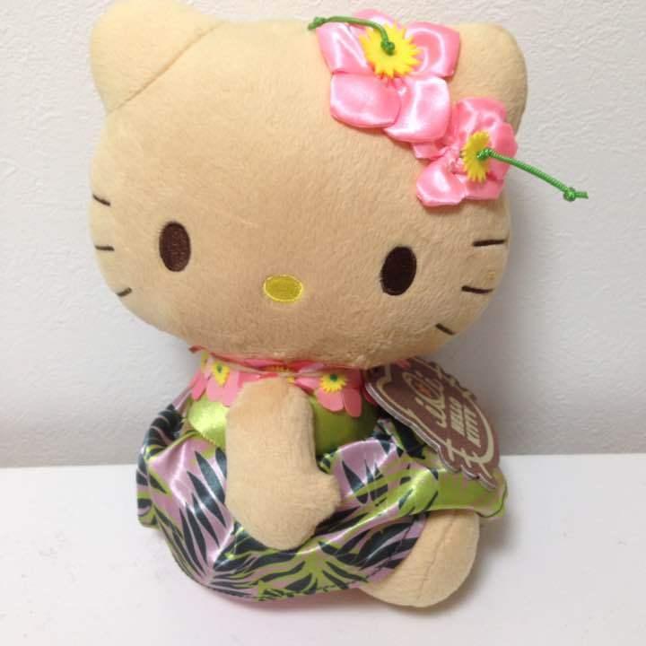 Hello Kitty Hawaii Peluche Muñeco De Peluche Animales Sanrio Japón Mascota Kawaii Raro Nuevo con etiquetas