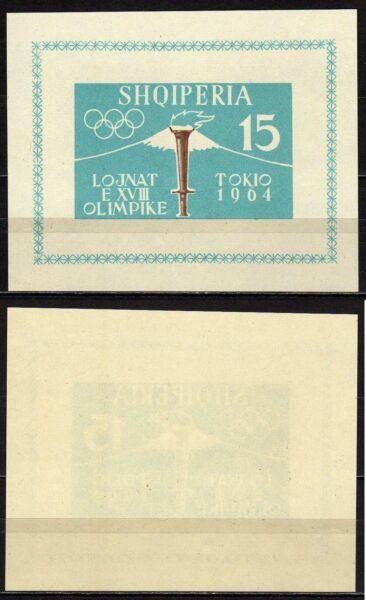 #866 - Albania - Foglietto Olimpiadi Di Tokyo, 1962 - Nuovo (** Mnh) Un BoîTier En Plastique Est Compartimenté Pour Un Stockage En Toute SéCurité