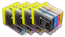 16 LC970 Bk/C/M/Y Ink Cartridges for Brother DCP-135C