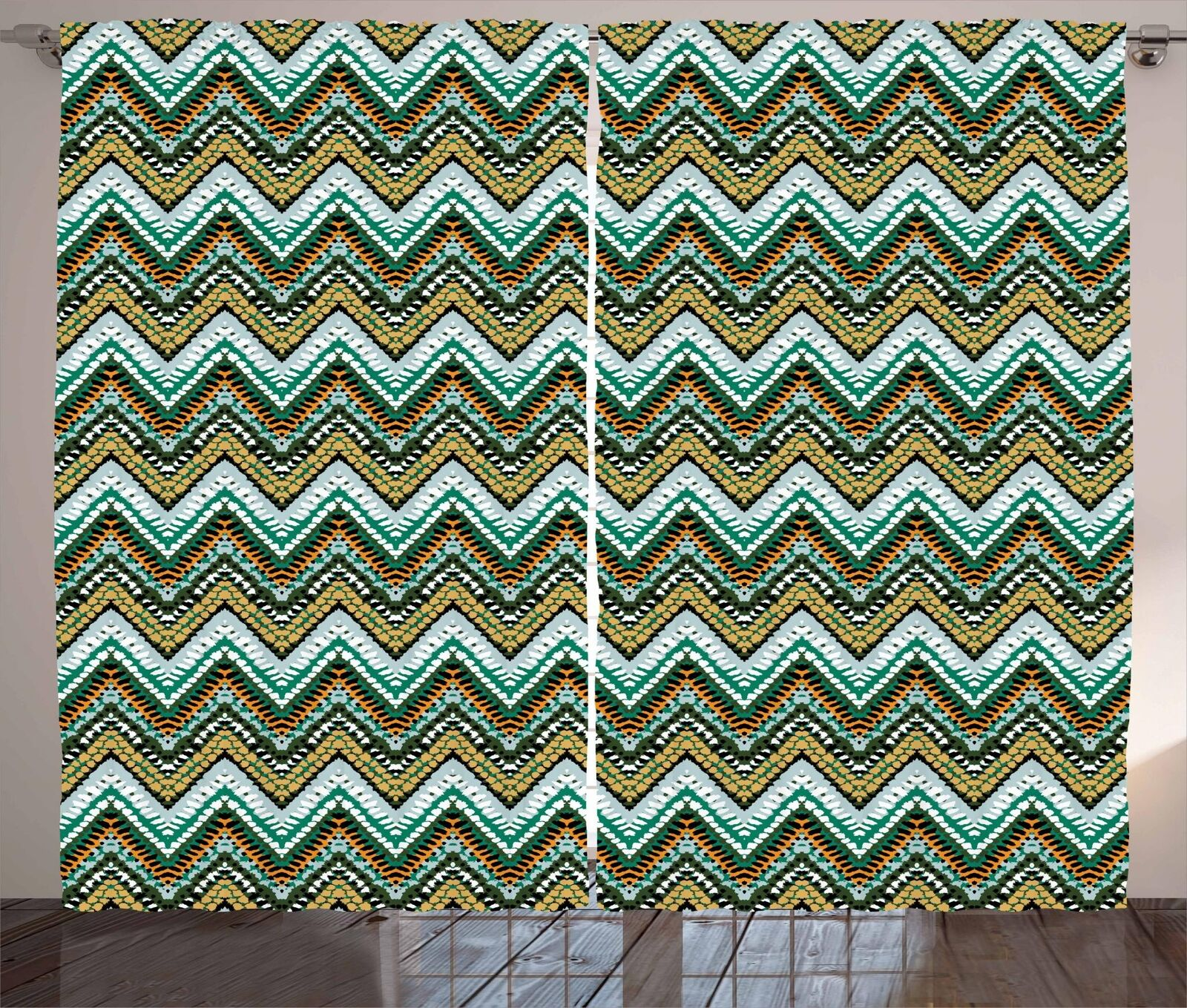 Farbeful Geometric Curtains 2 Panel Set for Decor 5 Größes Window Drapes