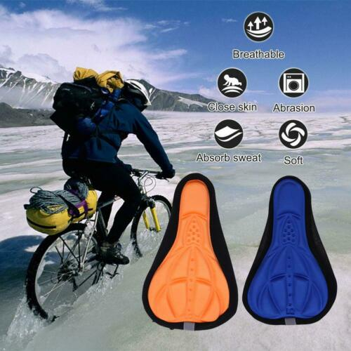 Bike Bicycle Silicone 3D Gel Saddle Seat Cover Pad Padded Soft Cushion Comfort~~