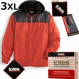 Fleece-Lined Storm Jacket Hooded Big&Tall Size 3XL Lightweight Warm Totes® NWT!
