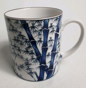 Coffee Mug Tea Cup Home Trends Hand Painted Ceramic West Palm Tree Bamboo 12oz
